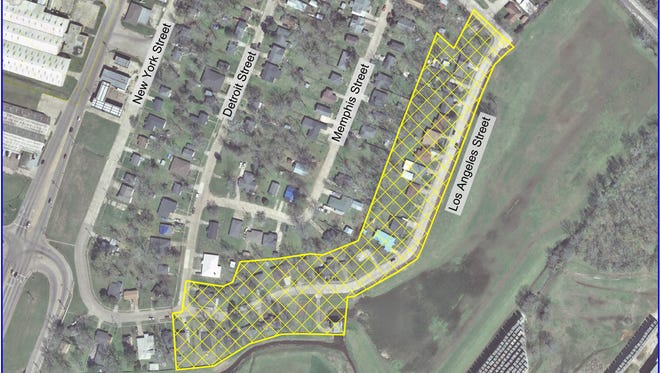 A water boil advisory is in effect for the yellow-shaded area of Los Angeles Street in Alexandria.