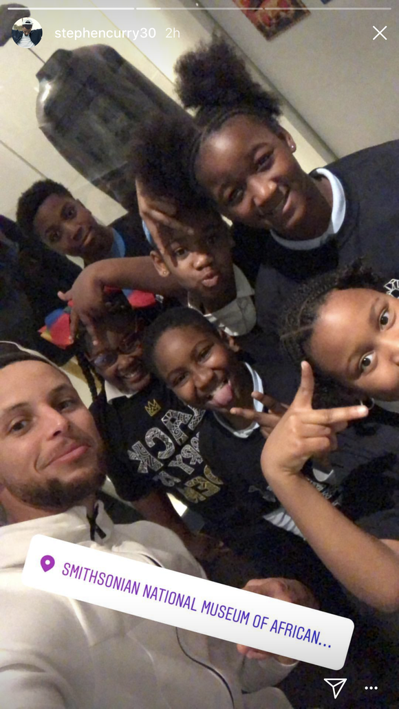 See photos and videos of Warriors visiting African American history museum in DC