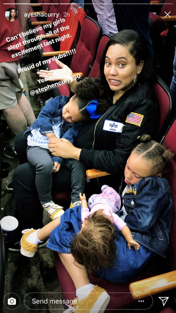 Steph Curry's daughters got a good nap in during Game 7