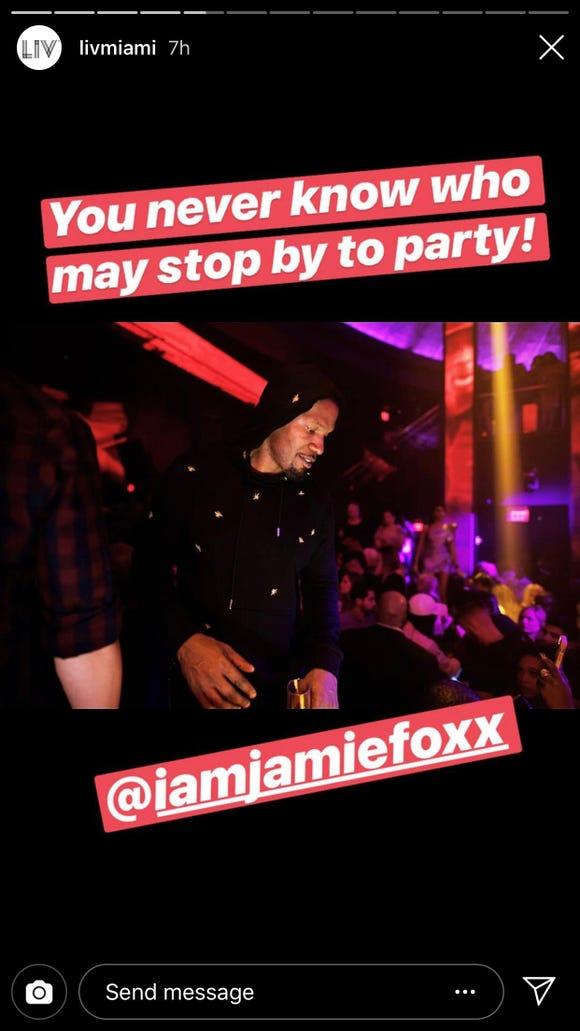 Shaq, Gucci Mane, Guy Fieri, Jamie Foxx partied at Miami club on a Friday night