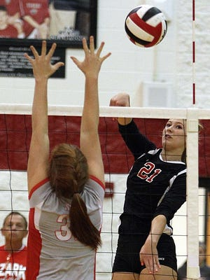 Ozark's Paige Perry signed a national letter of intent to play volleyball at Missouri State University Nov. 11, 2015.