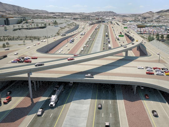 The Sunland Park Drive overpass will eventually be redone to look like this.