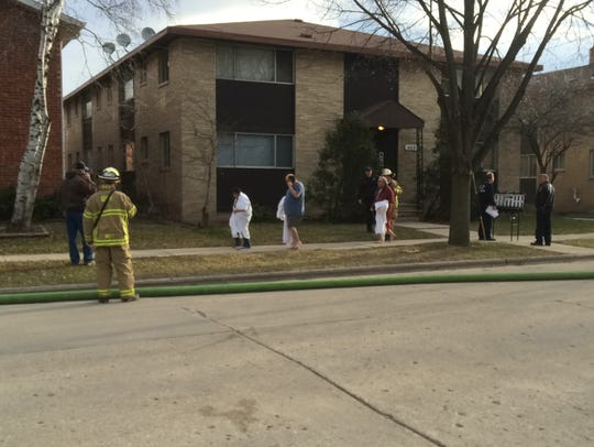 Residents are evacuated from 1119 Cherry Street after