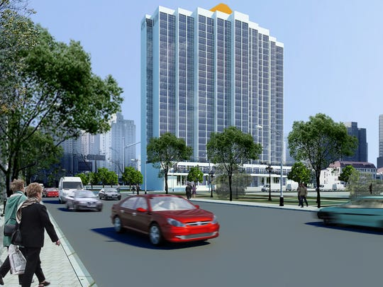 Rendering of the future remodeled Amtel Hotel.