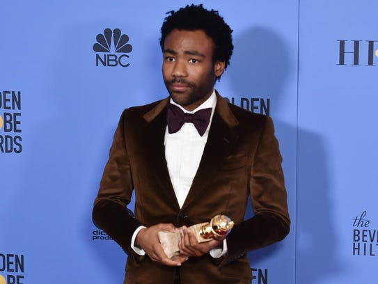 Donald Glover, winner of best actor in a comedy series