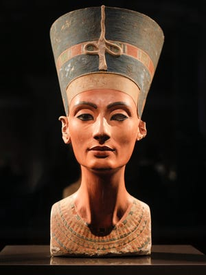 The 3,300-year-old bust of Queen Nefertiti.