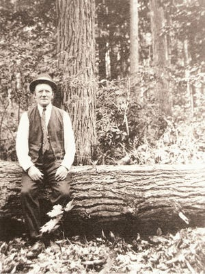 Herman Lunden, seen here sometime in the 1930s, was an early proponent of sound forestry practices in Michigan.