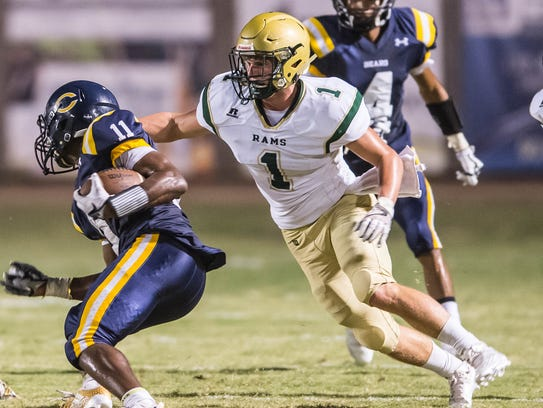 Acadiana High linebacker Connor Breaux has been selected as the All-Acadiana Football Defensive MVP.