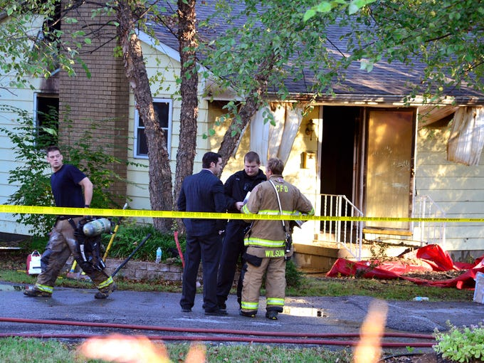 Clarksville Fire and Rescue responds to the scene of a fatal fire in the 400 Blk. of Randolph Ave. Fire Chief Tom Upton describes the victims as two adult males. October 9, 2013