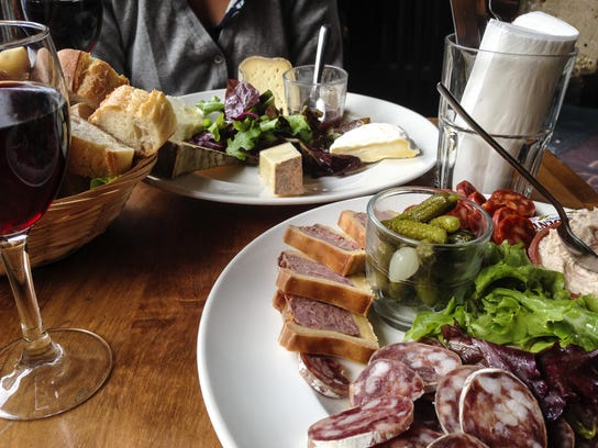 Charcuterie and cheese at Cafe Lea in the Latin Quarter