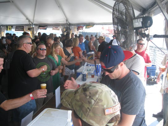 Craft beer fans taste brews at last year's Brew Blast