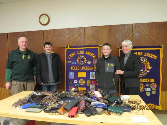 Members of the Wells-Jackson Lions Club and Loyal Leos