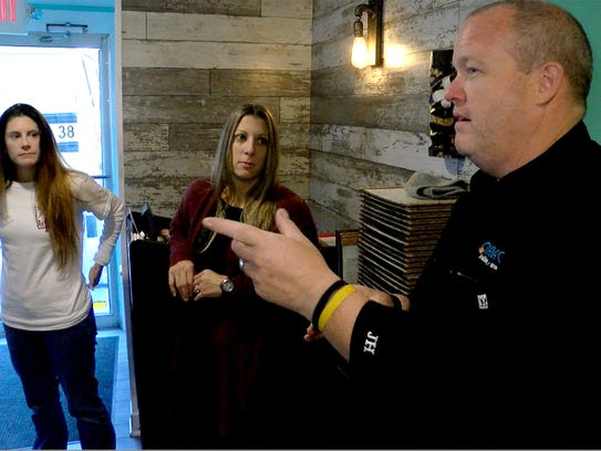 Ohana Grill Chef/Owner James Costello briefs Toms River