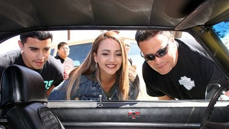 Car show fans can check out the interiors of classic Detroit automobiles during the Smok'n Oldies Show and Shine 20th anniversary car show from 10 a.m. to 2 p.m. Saturday at the Luna County Courthouse Park.