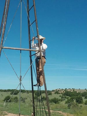Some Cowboys will even climb up a water windmill tower to get cell service out on the range.