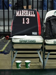 The Marshall girls basketball team honored Marshall
