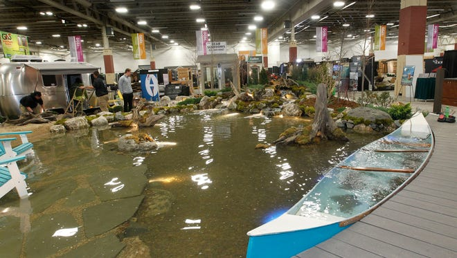 """The main attraction for this year's Home & Garden Show is the """"Garden Promenade"""" with water features, green spaces, outdoor kitchens, fire pits, pergolas and pavers."""