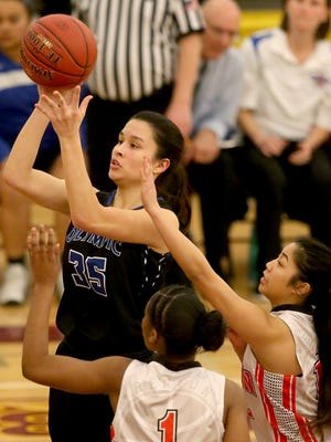 Olympic's Katie Campana (35) was named the co-MVP of the Olympic League 2A on Wednesday.