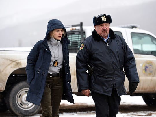 Elizabeth Olsen plays an FBI agent and Graham Greene is a tribal sheriff investigating a killing in 'Wind River.'