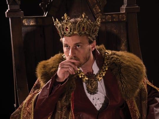"""Sam Ashdown plays Henry V in the Utah Shakespeare Festival's 2016 production of """"Henry V."""""""