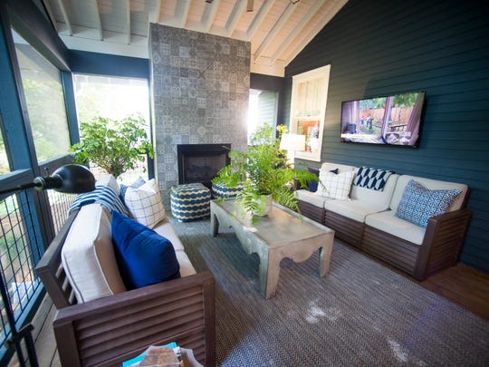 The screened porch in HGTV's Urban Oasis 2017 in the