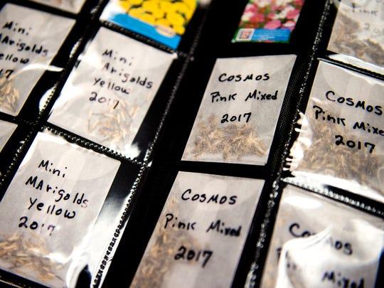 Jackie and Mike Hardin recently began a seed library
