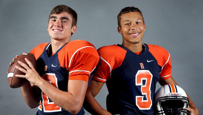 Blackman's Miller Armstrong, left, and Taeler Dowdy lead the Blaze offense.