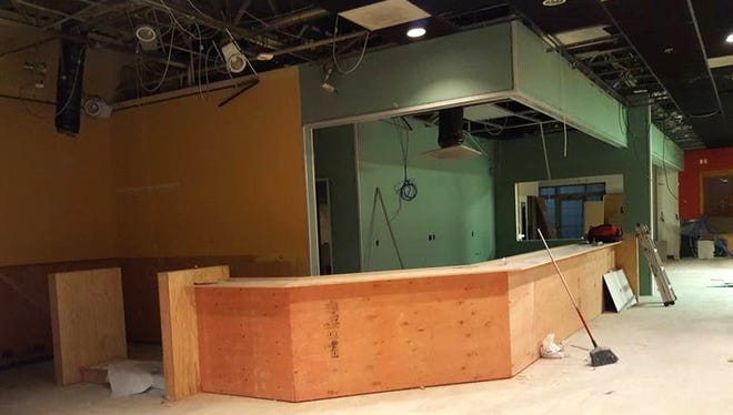 Buildout work continues at Craft Beer Cellars in Pewaukee. Owners Mark and Carrie Van Dehy are aiming for an early October opening date.