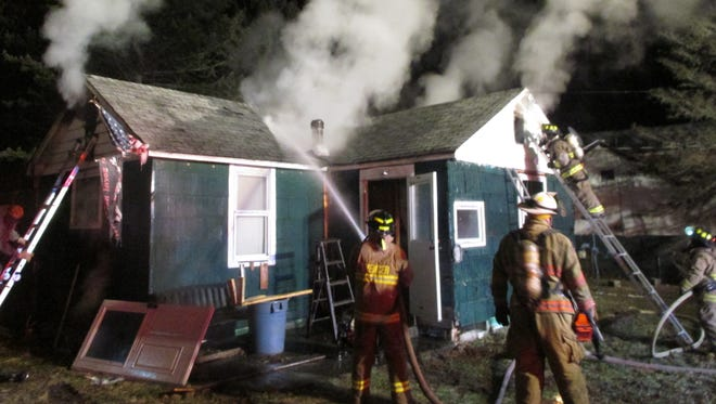 On Jan. 6, the Spencer Fire Department responded to a house fire on Guiles Road in Spencer. The temperature was only five degrees and flames were shooting from the roof in two places.