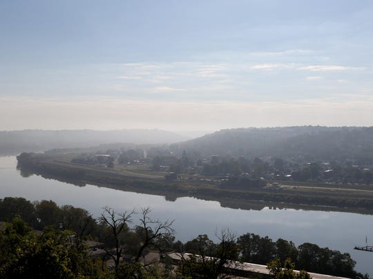The view of the Ohio River from Eden Park