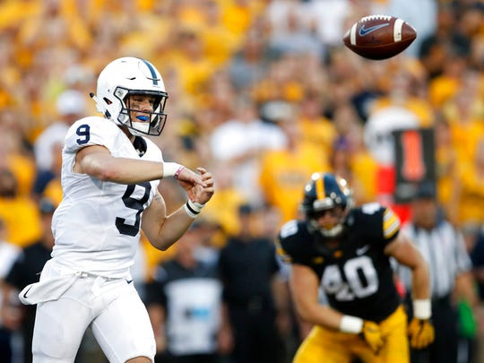 While Trace McSorley's numbers are good, he still hasn't been able to break defenses early with his downfield pass game. Will his line give him the necessary protection at Northwestern?