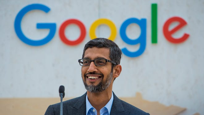"""Sundar Pichai, CEO of Google, attends the data center groundbreaking in Clarksville on Friday. """"With each data center that we bring online, we've operated with the goal of being able to do increasingly more, and with this data center our goal is tobring the very latest in technology to Clarksville, and Tennessee,"""" he said."""