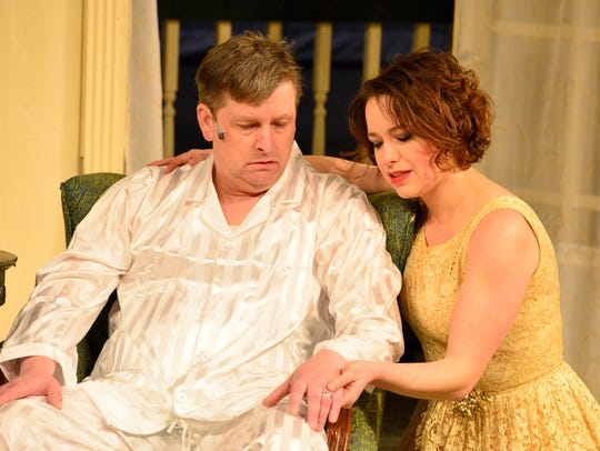 Michael Roehl and Michelle Jorgensen, as Brick and