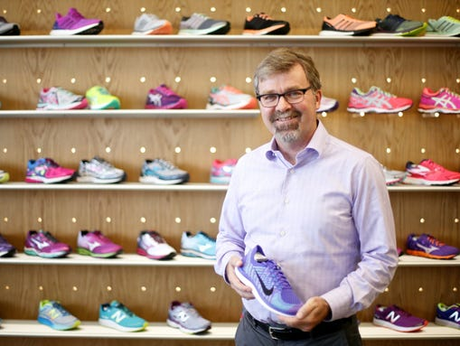 Gazelle Sports CEO Chris Lampen-Crowell at his new