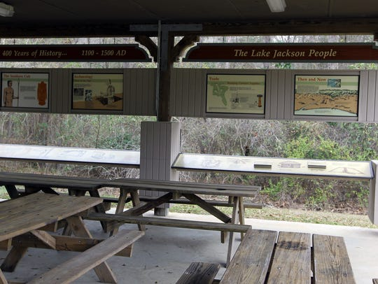 The Lake Jackson Mounds Archaeological Park is located