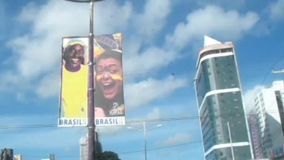 Natal Brazil World Cup banner