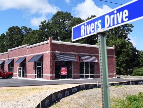 A new strip mall is located off Rivers Drive and Evelyn