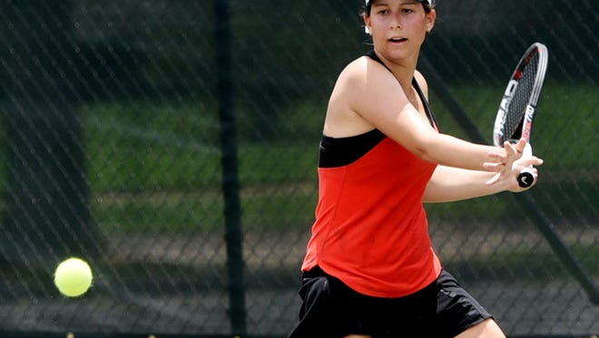 Sabrina Ramros during the second day of the USTA Intersectional Tennis at Pierremont Oaks Tennis Club.