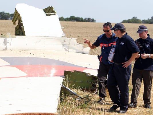 Ukraine Malaysia crash site