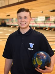 John Jay High School bowler Nick Pagan poses for a photo during practice at Fishkill Bowl on December 10th.