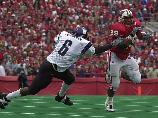 Wisconsin tailback Michael Bennett rushed for 293 yards in the 2000 Big Ten opener against Northwestern.