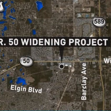State Road 50 widening project in Hernando County.
