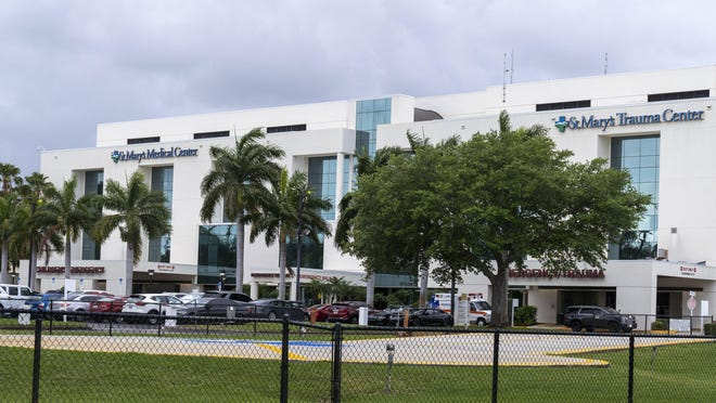 St. Mary's Medical Center in West Palm Beach, Florida on March, 10, 2020.