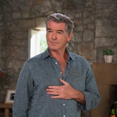 "Pierce Brosnan sings again as Sam in ""Mamma Mia! Here"