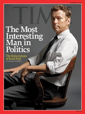 Sen. Rand Paul, R-Ky., on the cover of TIME.