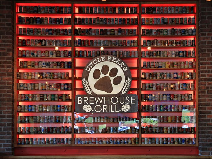 The interior signage of Uncle Bear's Brewhouse Grill in Ahwatukee.