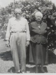 """Willie White """"Bill"""" Scarbrock, shown with his wife, Ada Jones Scarbrock, was involved in a feud with the Hastings family that led to him and his son killing Edward Hastings and wounding James Oglesby in February 1932. Scarbrock and his son were convicted of manslaughter and sent to prison, but they were pardoned after serving nearly two years in the state penitentiary."""