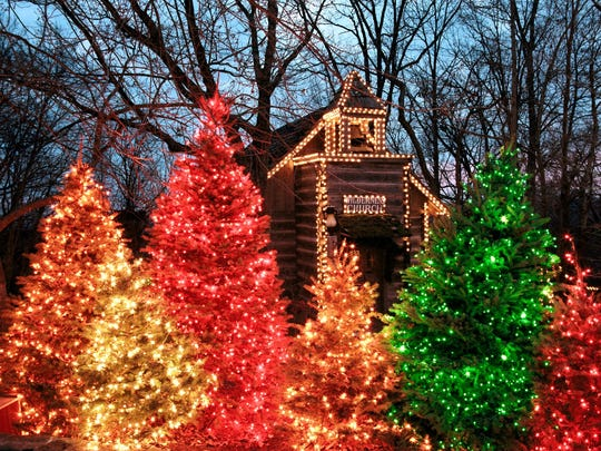 A scene from An Old Time Christmas at Silver Dollar City in Branson, Mo.