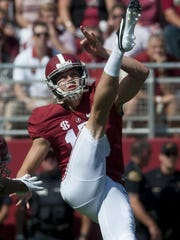 Alabama punter JK Scott was a finalist last year for the Ray Guy Award.