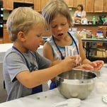 Little bakers take charge in kitchen